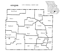 oregon county map oregon county missouri maps and gazetteers