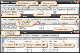 layout template listview listview layout manager codeproject