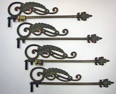 Fleur De Lis Curtain Rods Swing Curtain Rod Wall Hanging Ornate Cast Iron By Gazaboo