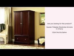 Sauder Armoires Sauder Palladia Wardrobe Armoire In Cherry Youtube