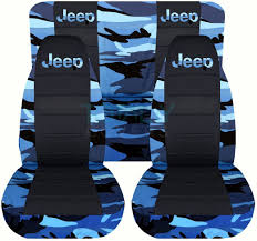 convertible jeep blue blue camo car seat covers 6138