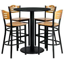 high bar table and chairs high bar table and chairs furniture round high top bar table