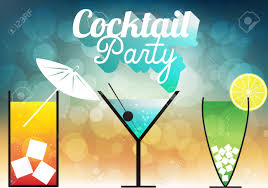 cocktail party invitation poster royalty free cliparts vectors