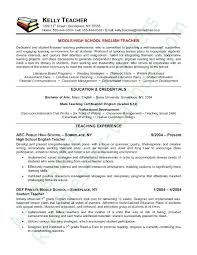 teacher resume template word u2013 inssite