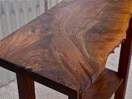 Walnut Sofa Table by Live Edge Black Walnut Sofa Table Detail Custom Furniture