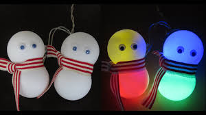 diy snowman lights learn how to make an easy snowman decoration
