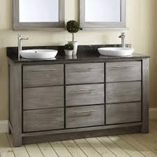 freestanding bathroom furniture shapely vanity and round window
