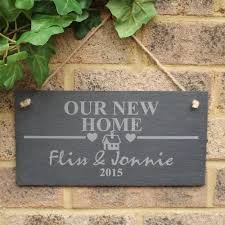 engraved new home slate sign plaque housewarming first home gift