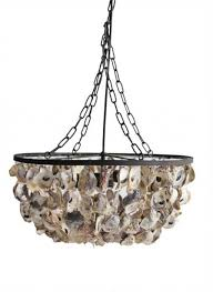 Creative Co Op Chandelier Creative Co Op 20 X 9 34h Oyster Shell Pendant Oyster Shell