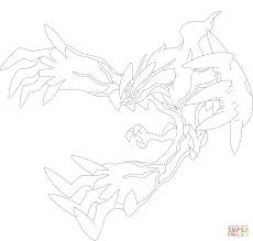 yveltal coloring page free printable coloring pages