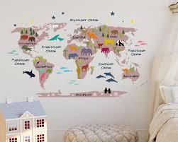 wandtattoo weltkarte für kinder deko fürs kinderzimmer