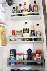 shelf liners ikea ikea bekvm spice rack saves space on organizing with style matching spice jars ombre spice racks in