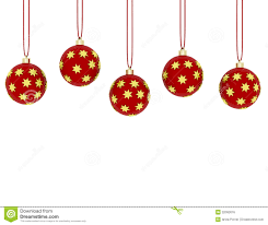 3d render of hanging ornaments royalty free stock image