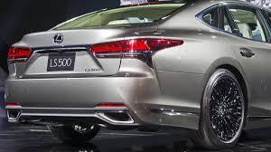 lexus ls sedan 2018 lexus ls flagship sedan gets sporting redesign via