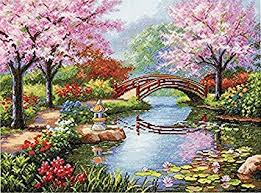 dimensions gold collection japanese garden counted