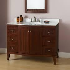 Mission Style Bath Vanity Bathroom Furniture Dark Wood White Gloss Freestanding Wicker