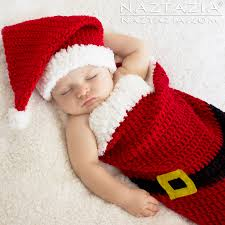 newborn pattern video christmas holiday baby santa hat and cocoon bunting by donna wolfe