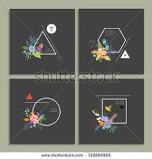 abstract trendy template with different geometric shapes and