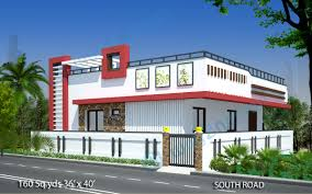 Floor Plans For Real Estate Agents 160 Sq Yds 36x40 Sq Ft South Face House 2bhk Elevation View For