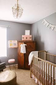 sweet feminine nursery in peach gold and gray the little umbrella