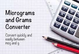 micrograms and grams conversion mcg to g