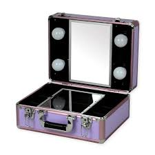 makeup luggage with lights glam case portable makeup case with lights glamousity