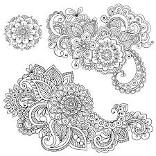 henna coloring pages and mehndi fleasondogs org
