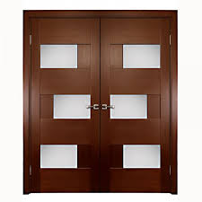 Interior Mdf Doors Aries Interior Door With Glass Panels 1 1 2 Mdf