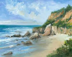 malibu california impressionist seascape oil painting el matador beach