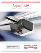Overhead Door Legacy Troubleshooting Garage Door Opener Legacy 850 Belt