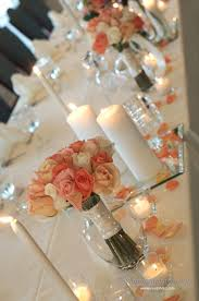 Wedding Head Table Decorations by Head Table Decor In Peach And Pink Designed By Melissa