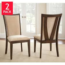 Fabric Dining Chair Low Back Armrests Dining Chairs Costco