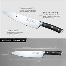 shan zu chef knife 8 inches high carbon german stainless steel