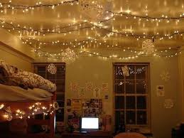 hang lights up all the ceiling to add a soothing