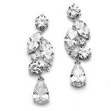dramatic earrings mariell dramatic size cubic zirconia statement