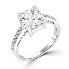 White Gold Cz Wedding Rings by Outstanding Cubic Zirconia Princess Cut Engagement Rings White