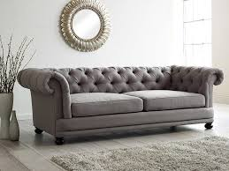 gray chesterfield sofa cara upholstered sofa living it up