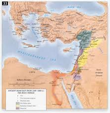 Biblical Map Of The Middle East by Bible Atlas