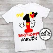 mickey mouse 1st birthday shirt mickey mouse iron on birthday boy shirt transfer iron