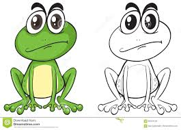 animal outline for cute frog stock vector image 92378128