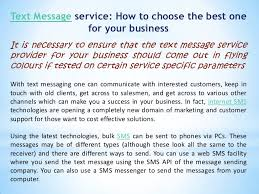 text message service how to choose the best one for your business