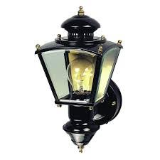 heath zenith 150 black charleston coach lantern with clear glass