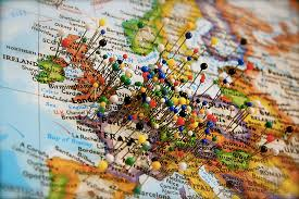 travel world map map of travels with pins major tourist attractions maps