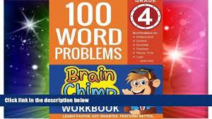 Algebra Word Problems Worksheet Pdf Big Deals 100 Word Problems Grade 4 Math Workbook Best Seller