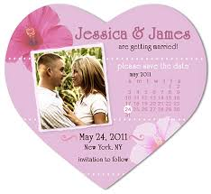 save the date wedding magnets hibiscus calendar photo heart save the date magnet