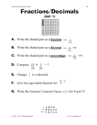 4th grade fraction worksheets koogra