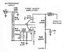 the johnson viking ranger first audio amplifier circuit