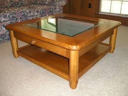 Solid Oak Coffee Table Oak Coffee Table With Glass Top Clear Glass Top Oak Coffee