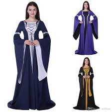2017 retro women victorian halloween medieval dress costumes