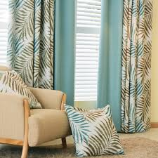 2017 new curtains american pastoral style blackout printed window